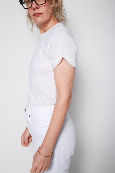 RE/DONE Rolled Sleeve Tee - Vintage White