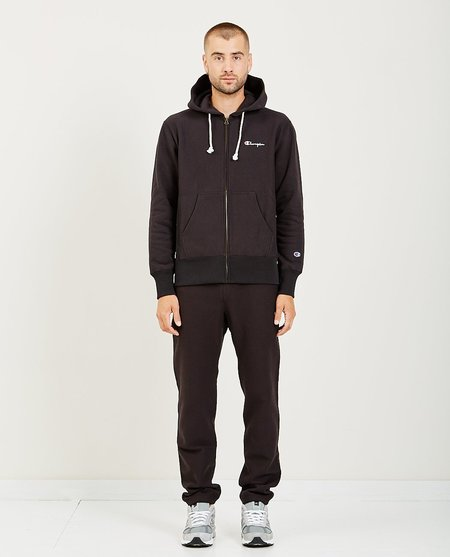 Champion HOODED FULL ZIP SWEATSHIRT - black