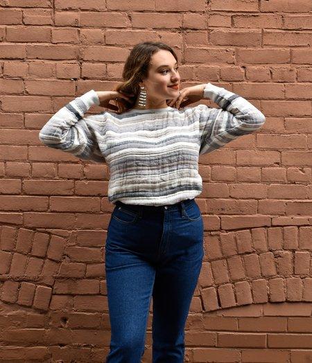 Odeyalo Moleskine Sweatshirt - stripe