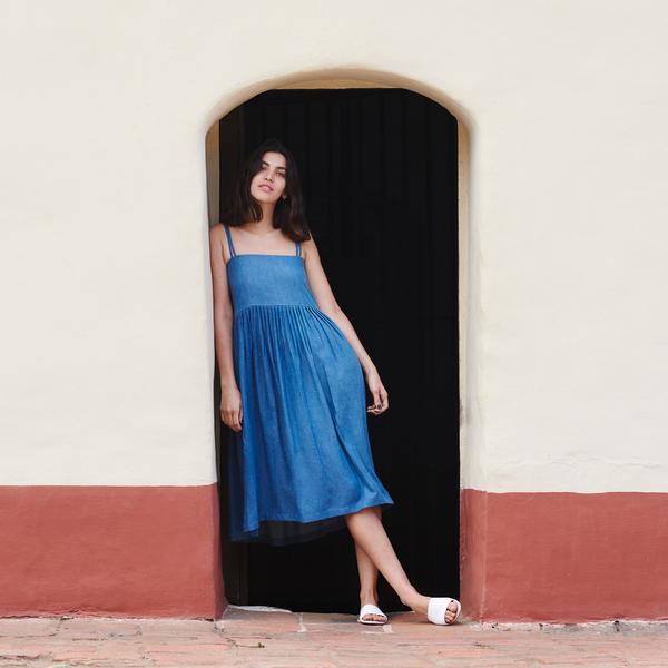 First Rite Sun Dress Denim