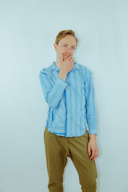 unisex Absorka chenille button down