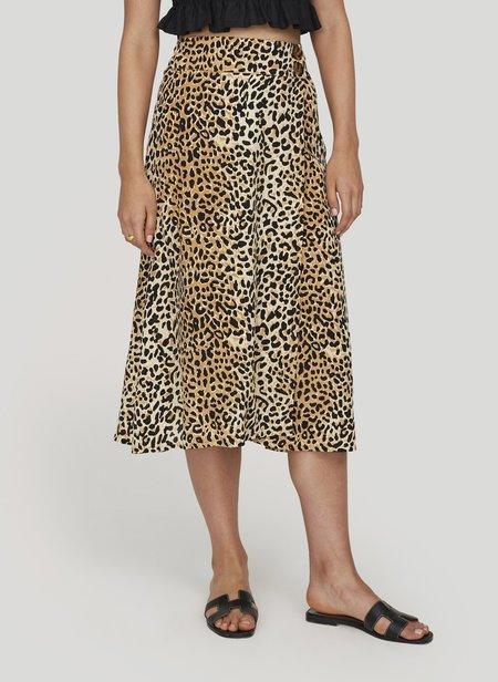 Faithfull Valois Midi Skirt - Animal