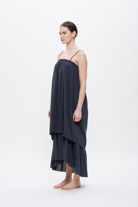 Black Crane Double Camisole Dress - Faded Black