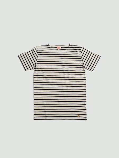Armor Lux Short Sleeve Sailor Shirt - Navy/Off White