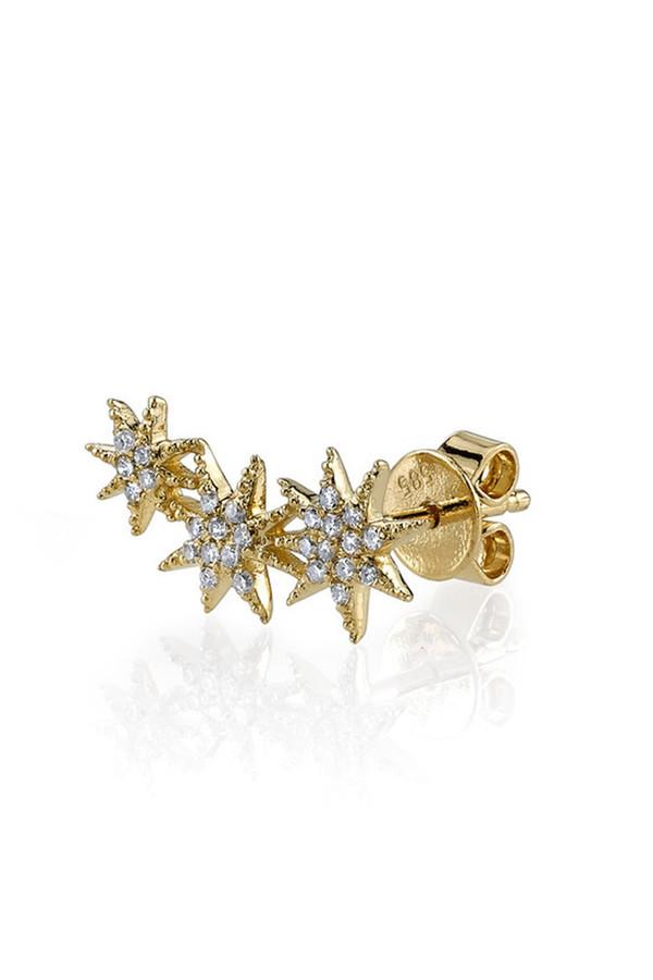 Gabriela Artigas & Company 14K Triple Shooting Star Earrings