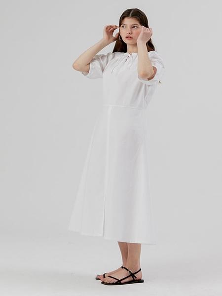 DESSERT Shirring Dress - White