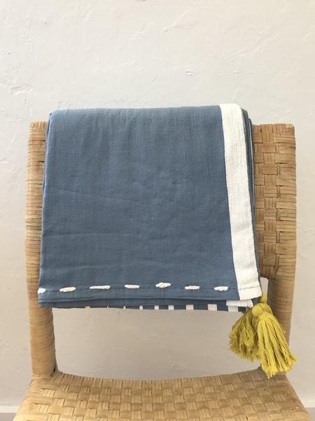 Thalassa Home Livissi Blanket - Azure blue