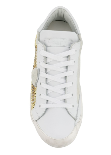 Philippe Model Paris Studs - White/Gold