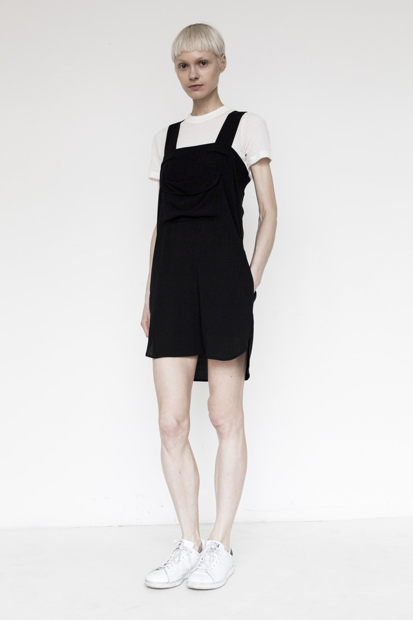 Assembly Crepe Strap Dress - Black