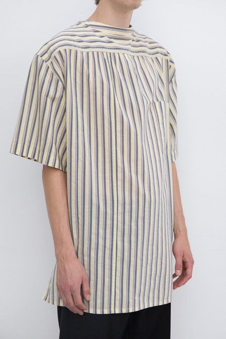 Lanvin Double Sided Mixed Fabric T-Shirt