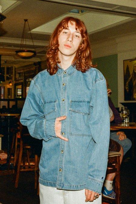 L.F.Markey Ando Denim Shirt - Mid Blue
