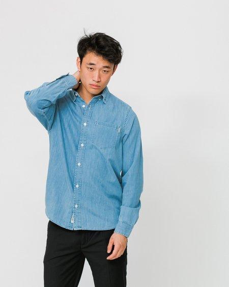 Carhartt Wip Stone Bleached Camisa Civil - Blue