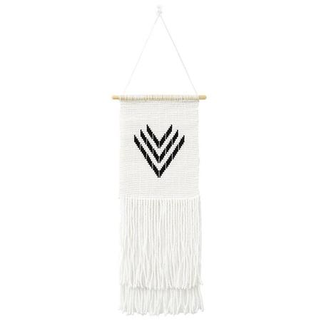 Sidai Designs Small Miniature Multi V Wall Hanging - Black/White