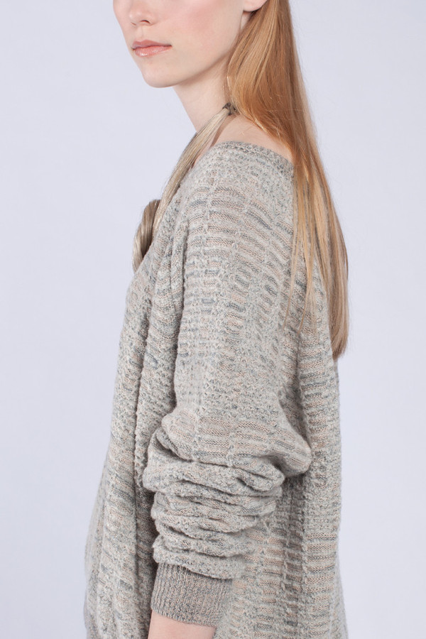 Micaela Greg Chalked Raglan Sweater