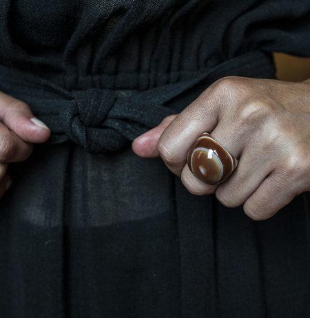 F O L D Agate Ring - Brown