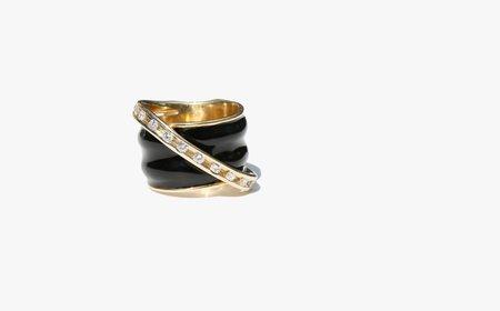 Kindred Black Poirot Black Onyx and Diamond Ring