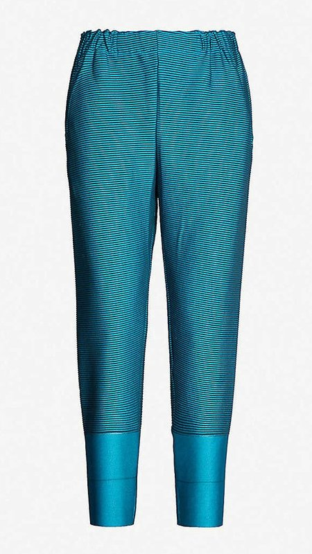 Issey Miyake Cosmic Ripple Pants - Turquoise