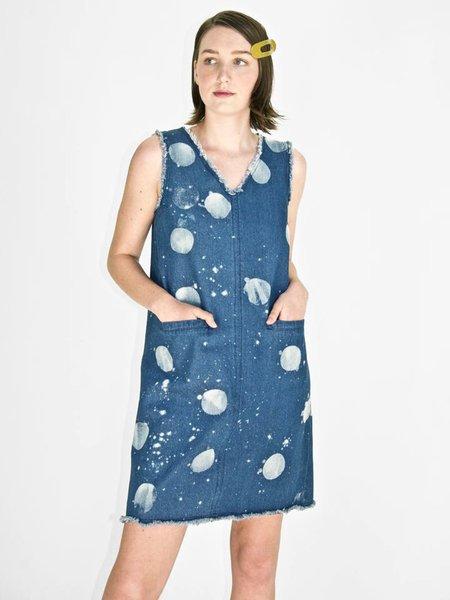 Irene Daye Cyd Dress - Spotted Denim