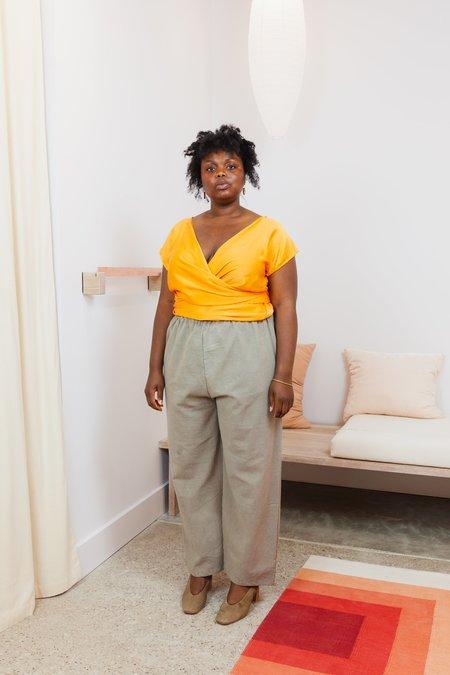 Miranda Bennett Textured Cotton Hadid Pant - Osage V.I
