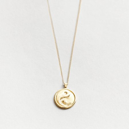 Wolf Circus Gravity Necklace - Gold