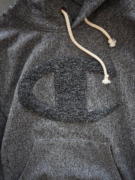 Champion Premium Reverse Weave Heavy Marl Hooded Sweatshirt - Black Marl