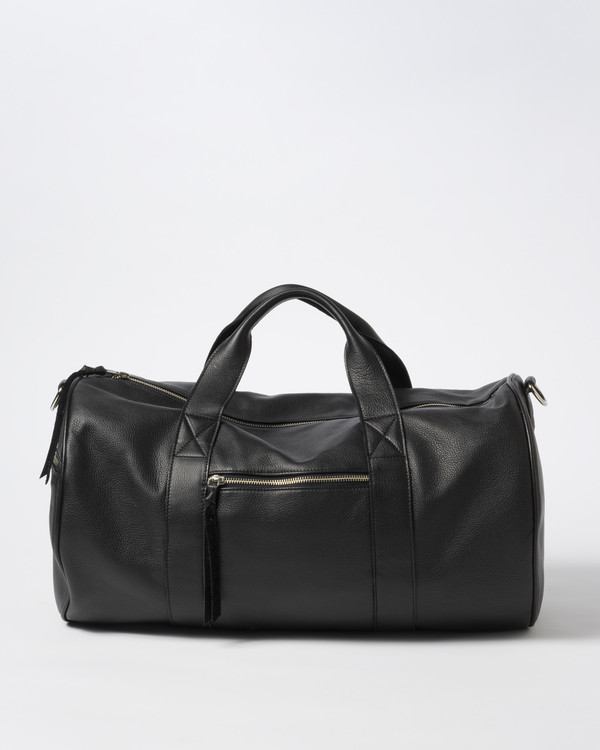 Clyde Duffel Bag in Black Leather