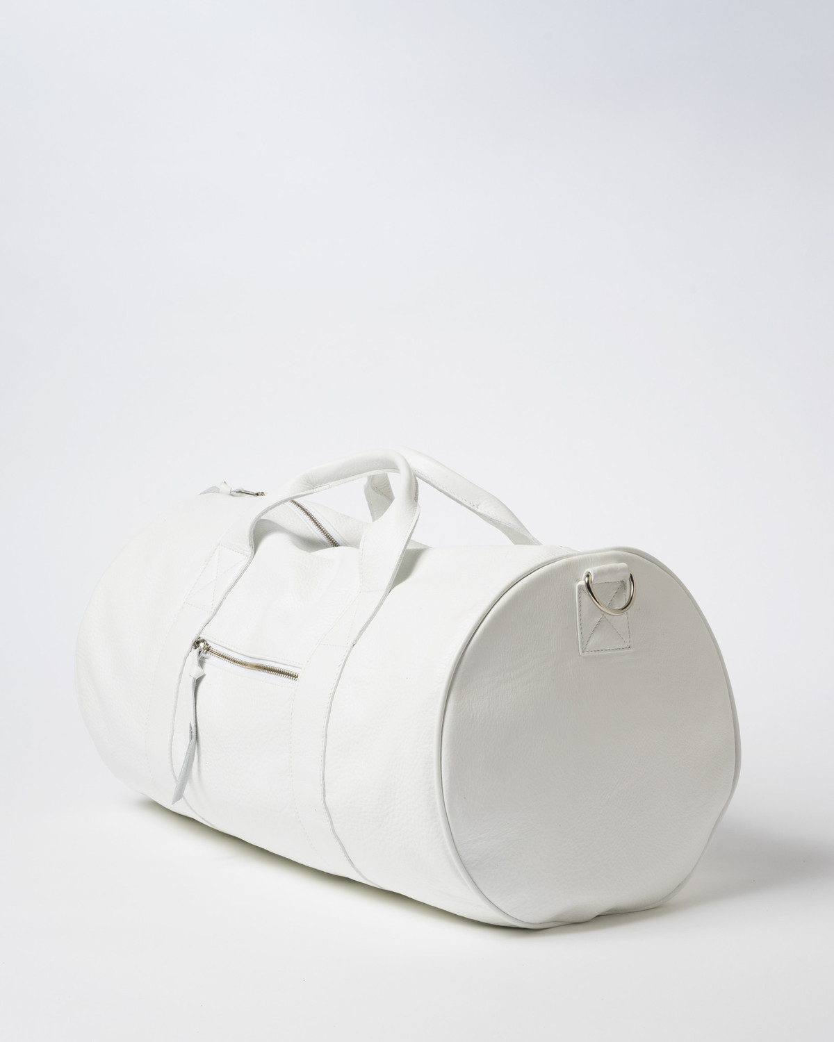 Clyde Duffel Bag in White Leather  7c6805e3b317d