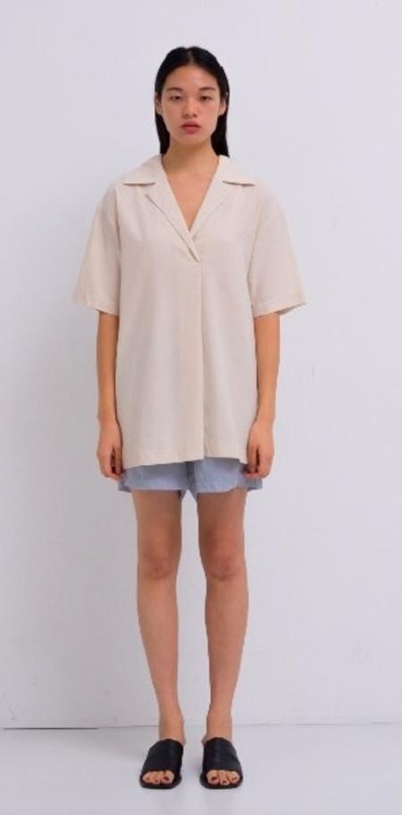 AMOMENTO Raw Silk Shirt