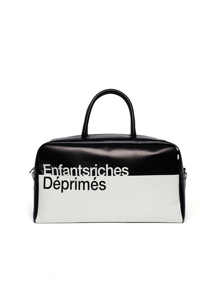 Enfants Riches Deprimes Leather Travel Bag - Black/White Printed