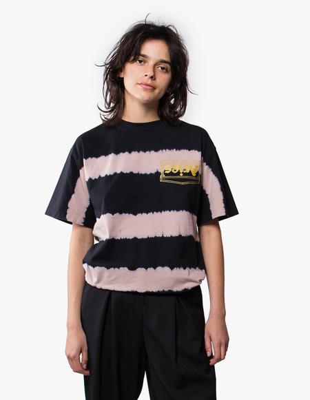 Aries Arise Tie Dye Stripe Tee - Dusty Pink