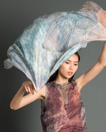 Kaarem Eel Printed Silk Scarf