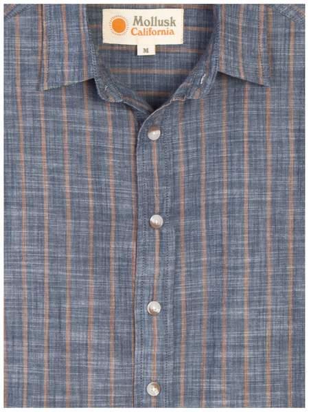Mollusk Summer Shirt - Charcoal Stripe