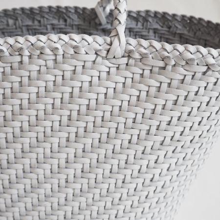 Makié Hand Braided Leather Bag - White