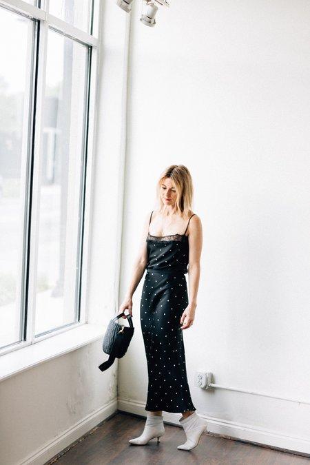 Anine Bing Bar Silk Skirt - Black/White