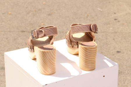 """INTENTIONALLY __________."" Talk Woven Sandal - Sable"