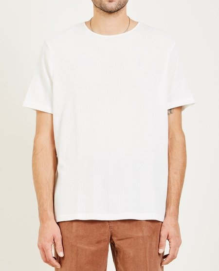 Our Legacy FINE U-NECK TEE - white