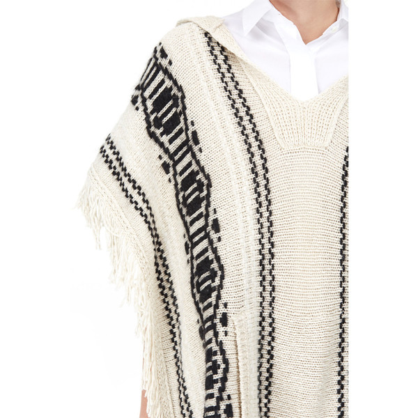 closed hooded poncho