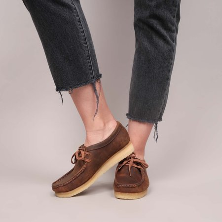 Clarks Wallabee Beeswax Oxford - Brown