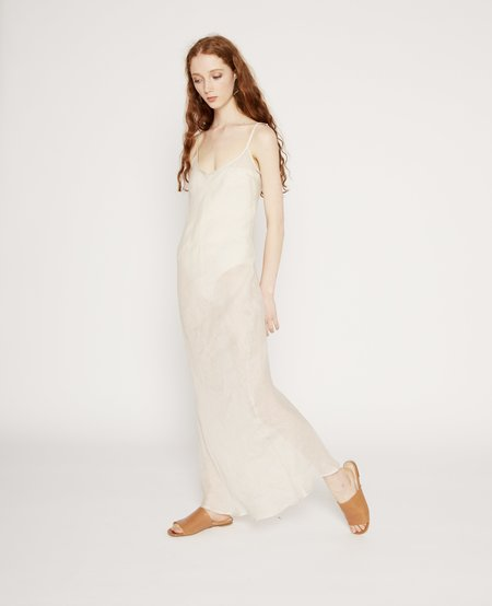 Baserange Dydine Linen Strap Dress