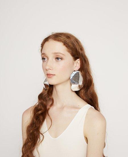 Julie Thévenot Large Araped Earrings - Silver