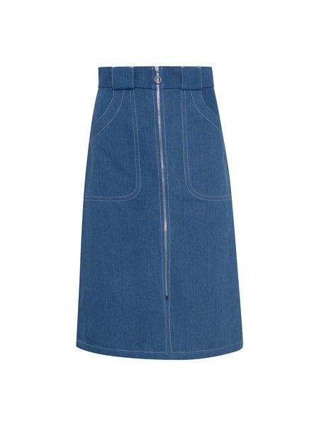 A.P.C. Celeste Skirt - indigo