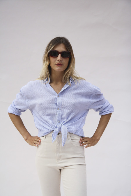 Rollas Slouch Shirt - Stripe