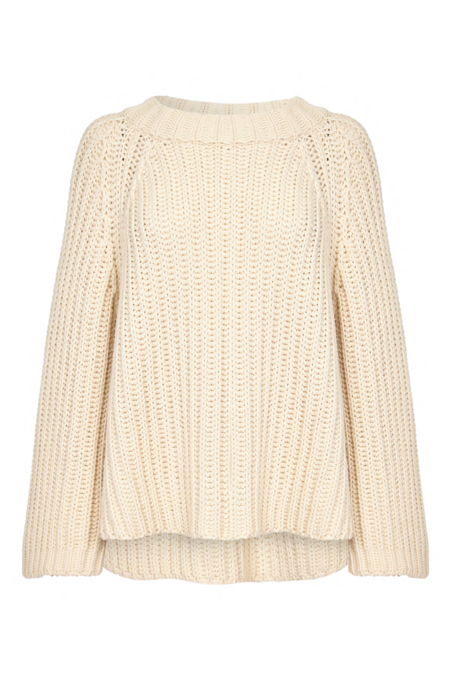 Arje Steph Cashmere Blend Rib Sweater - Vanilla