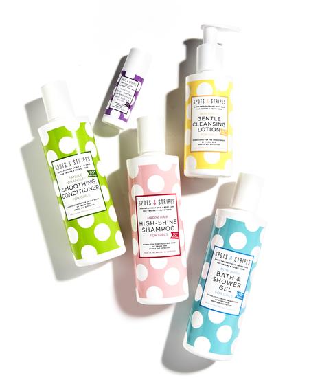 Kids Spots & Stripes Girls Tween and Teen Clean Skincare Set