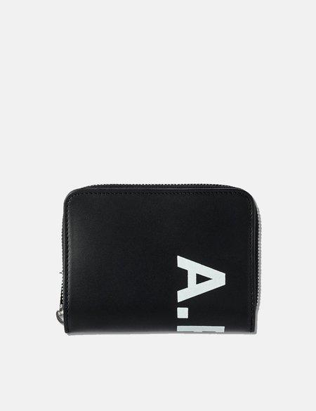 A.P.C. Compact Mio Transversal Logo Wallet - Black