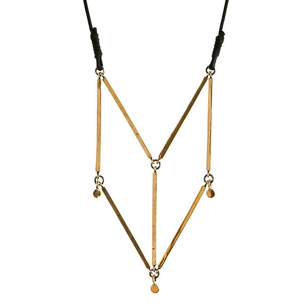 winifred grace geometric bar necklace