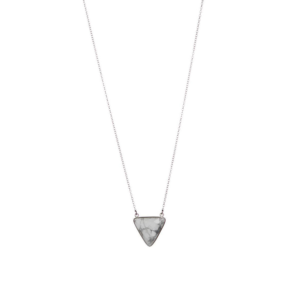 Lisbeth Triangle Howlite Stone