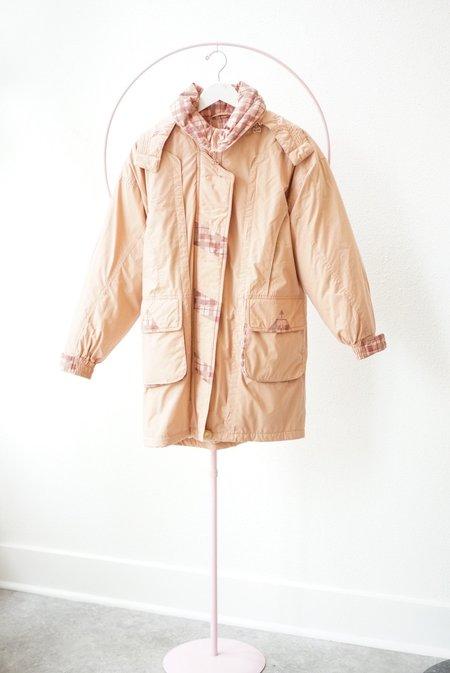 Vintage Puffy Jacket - Peach/Plaid