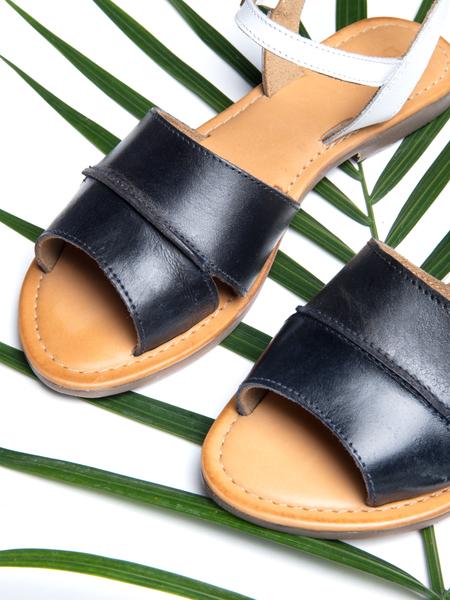BLNC Ankle Strap Sandal CB - Navy/White