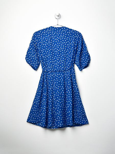 Faithfull The Brand LA ROCHELLE MINI DRESS - BLUE